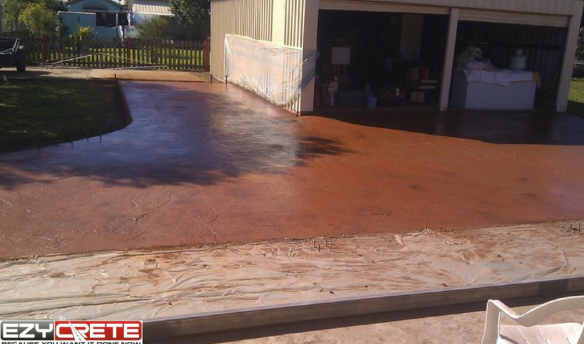 Color Concrete Finish Driveway - Whitsunday Concreting